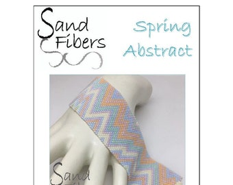 Peyote Pattern - Spring Abstract Cuff / Bracelet - A Sand Fibers For Personal/Commercial Use PDF Pattern