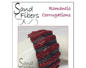 Romantic Corrugations Peyote Cuff - A Sand Fibers For Personal/Commercial Use PDF Pattern