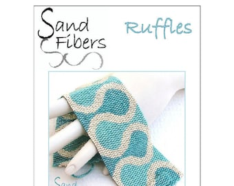 Ruffles Peyote Cuff  - For Personal/ Commercial Use  PDF Pattern