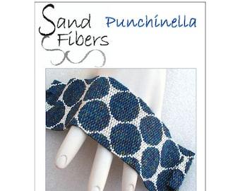Peyote Pattern - Punchinella Peyote Cuff / Bracelet  - A Sand Fibers For Personal/Commercial Use PDF Pattern