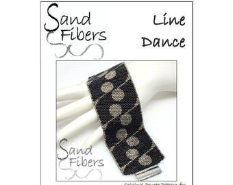 Peyote Pattern - Line Dance Peyote Cuff / Bracelet  - A Sand Fibers For Personal/Commercial Use PDF Pattern