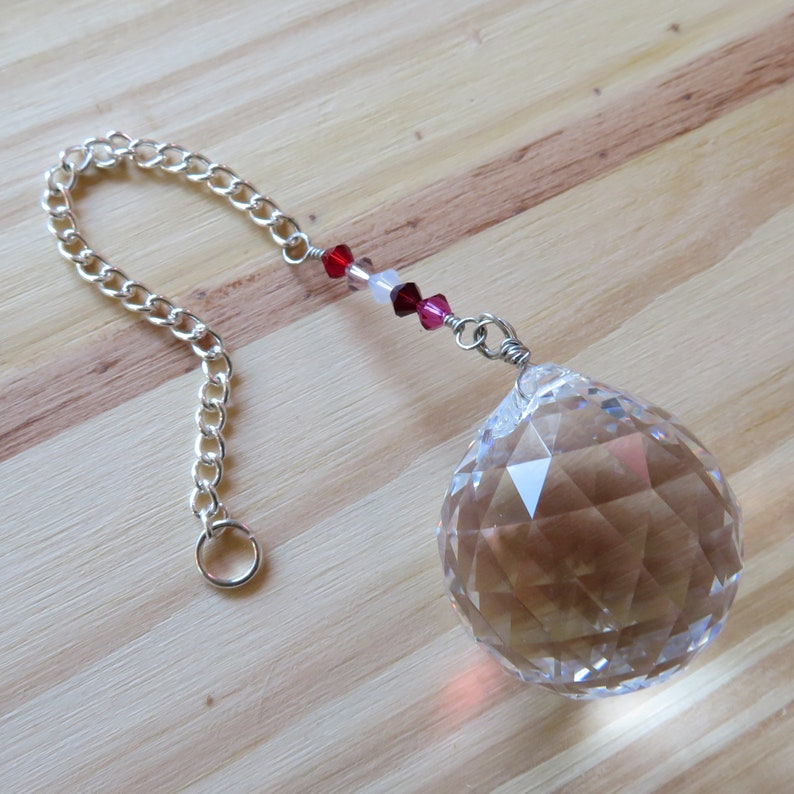 Beautiful Suncatcher with 30mm Prism Accented with Shades of image 0
