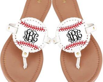 81edb7cfe58d6d Baseball Softball Mom Sandals Flip Flops--Available NOW