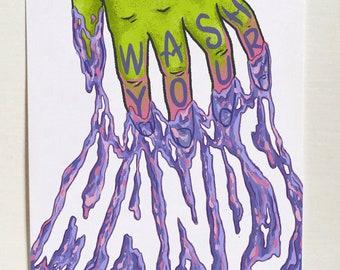 WASH YOUR HANDS – art print
