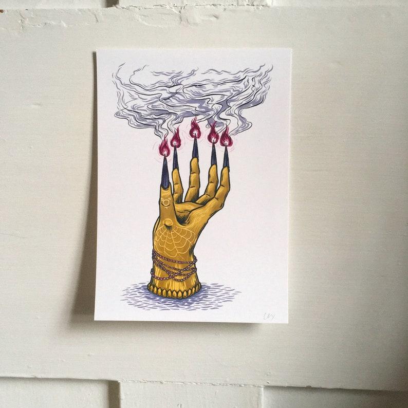 candelabra for y/our trancestors  art print image 0