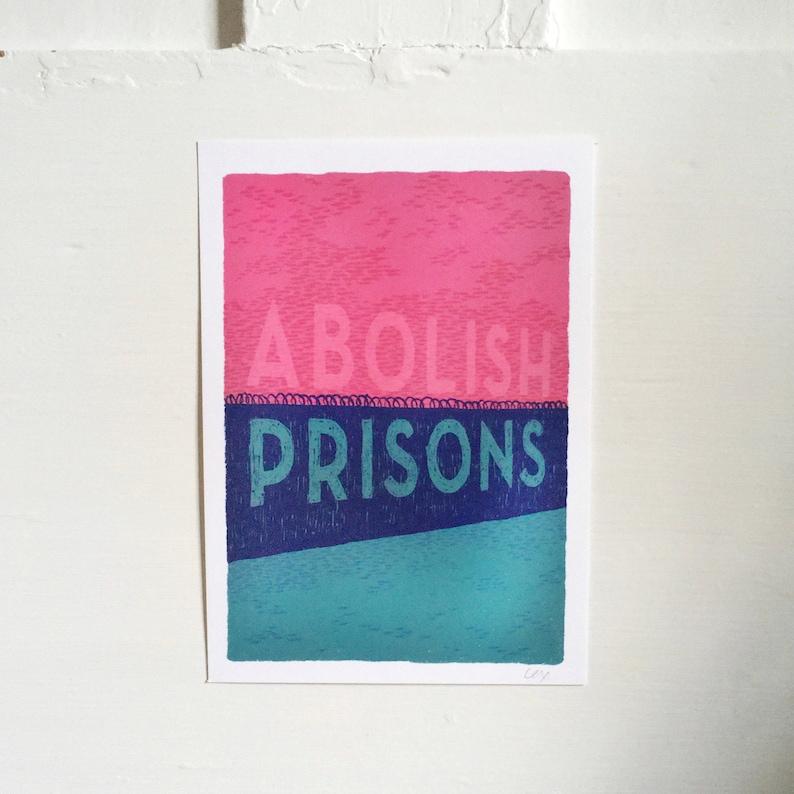ABOLISH PRISONS  art print image 0