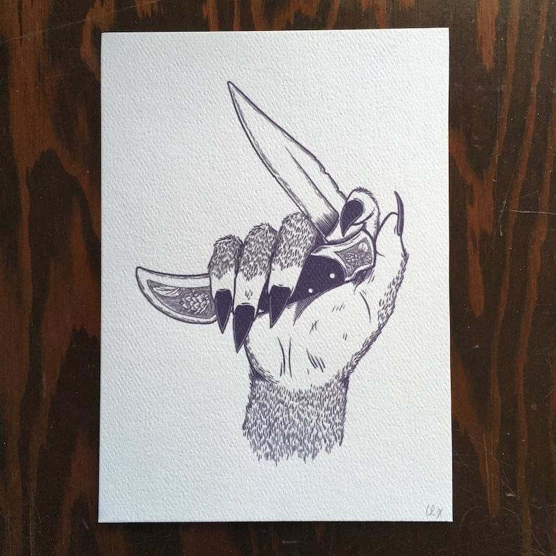 Femme Beast  art print image 0