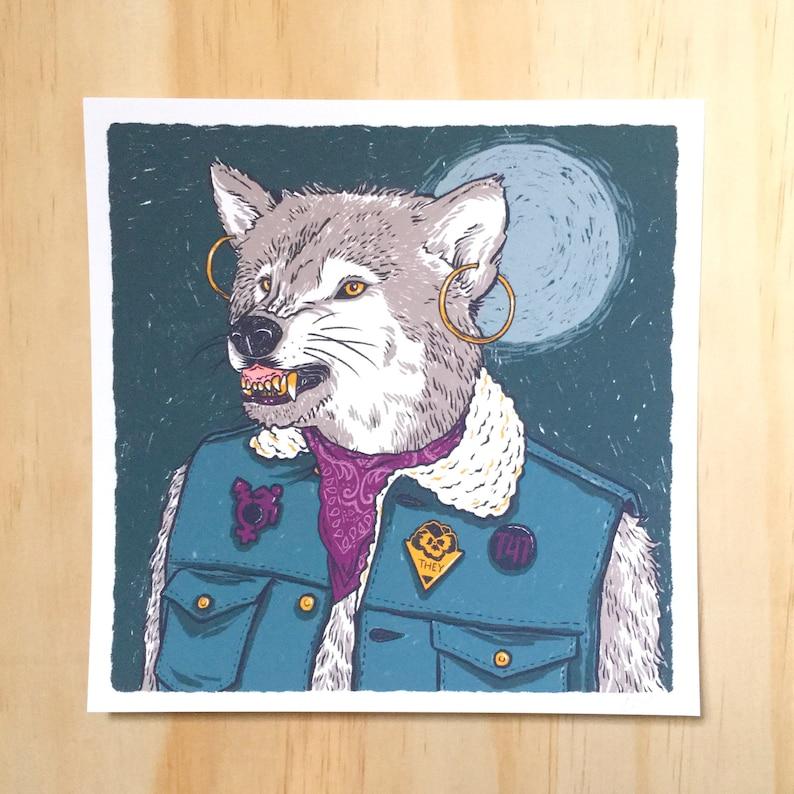 Werewolf  art print  trans werewolf t4t image 0