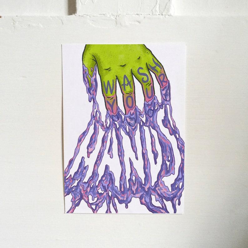 WASH YOUR HANDS  art print image 0