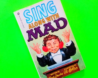 Mad Magazine Madvertising MAD About Sports Sing Along Comedy Satire Alfred E Neuman Comic Cartoon Sygnet First Edition Vintage 1970s Book