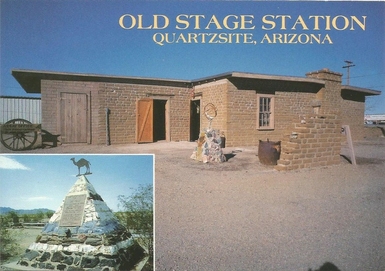 Vintage Postcard Quartzsite Arizona Ghost Town Wild West Old Stage Station Fort Tyson United States Photochrome Postally Unused More Styles