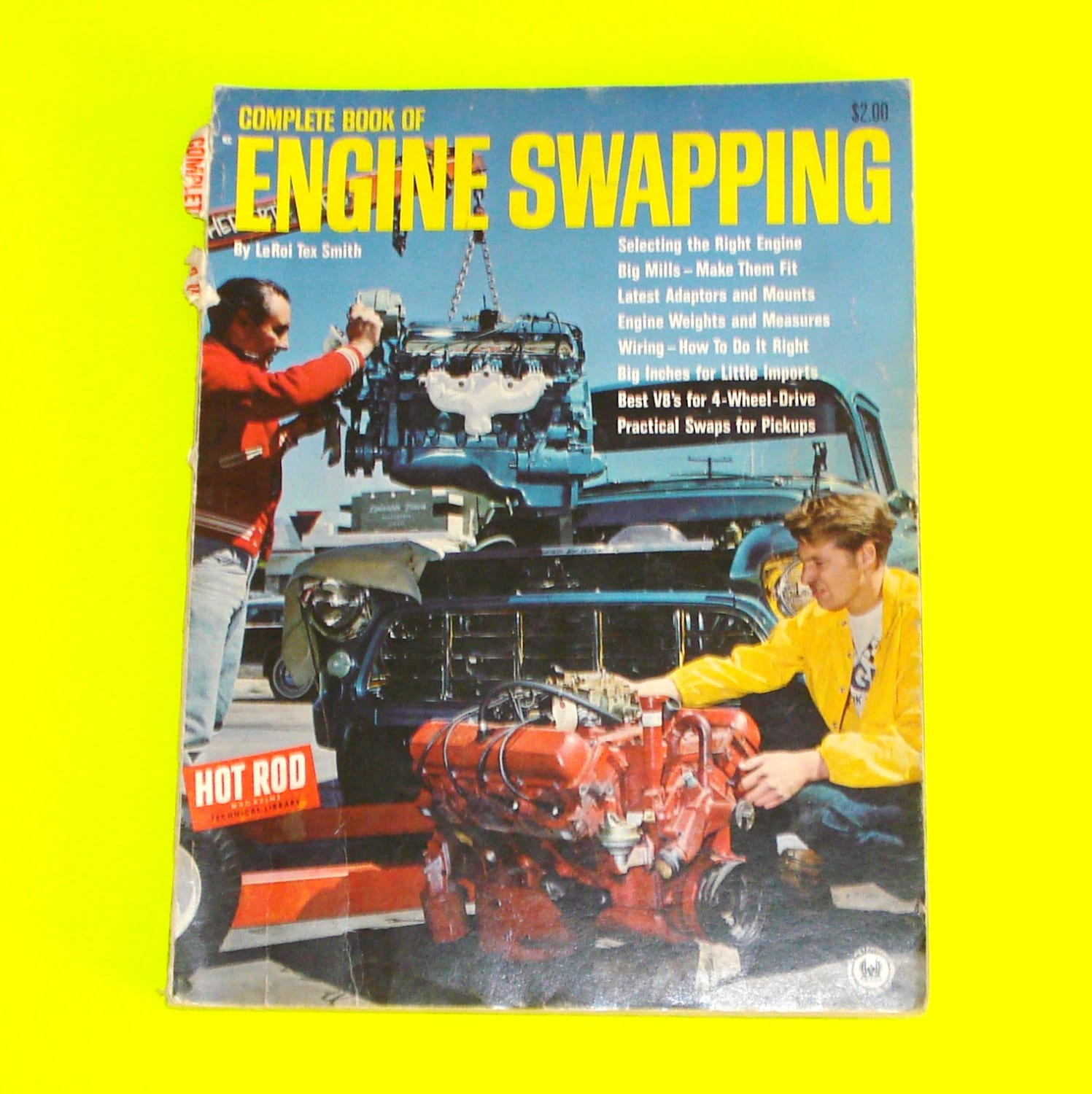 Vintage 1968 Complete Book of Engine Swapping No  1 by Leroi Tex Smith -  Original - Rare!