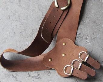 Leather Baldric or shoulder sword belt