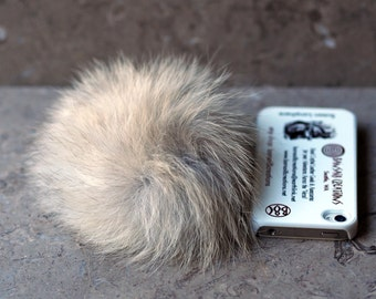 Real fur and catnip cat toy