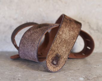 Silky Brown Guitar Strap