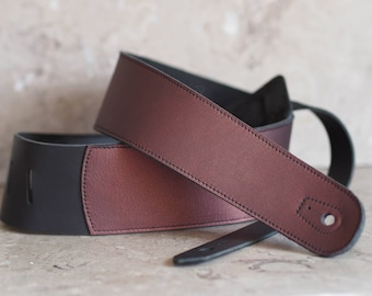 Cabernet Leather Guitar Strap