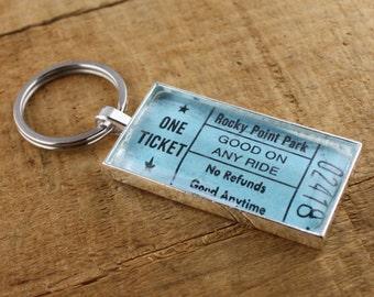 Rocky Point Park Ticket Keychain - Good On Any Ride