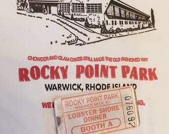 Rocky Point Park Ticket Magnet - Lobster Shore Dinner