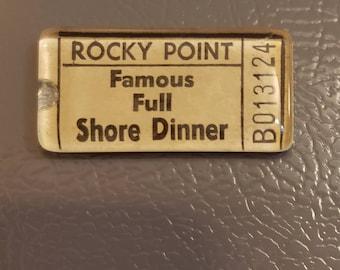 Rocky Point Park Ticket Magnet - Famous Full Shore Dinner