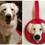 Pet Christmas Ornament from Photo - Custom Dog or Cat Ornament - Pet Memorial - Keepsake Ornament - Handmade Polymer Clay