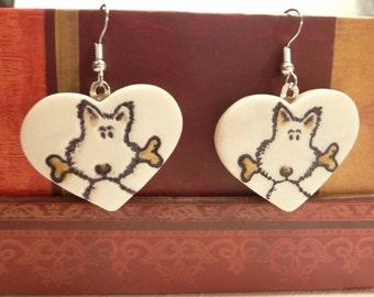 Cute Dog Earrings for Women, Dog Jewelry, Pet Lover Gift, Puppy Earrings