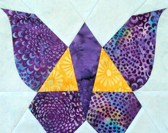 Joan's Vintage Butterfly Quilt Block Pattern - templates and complete instructions for creating this block - 9 inch square finished