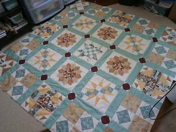 Quilt Pattern For Beginners Queen Size Sampler Quilt Etsy