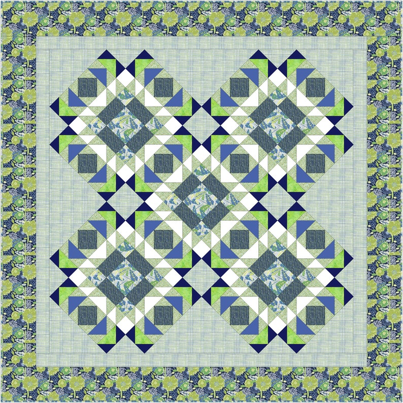 Tidepools PDF Lap Quilt Pattern confident beginner to image 0