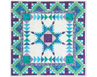 PDF pattern for Feathered Star Medallion Quilt