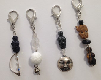 Goddess Venus of Willendorf Zipper Pulls, Charms, Key Fobs