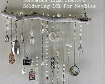 Online class Soldering 101 Bohemian Illumination, PLEASE read full description, soldering for newbies, Online workshop, jewelry, soft solder