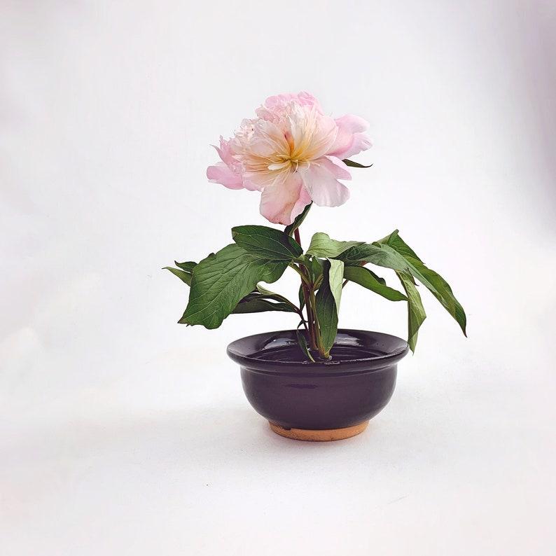 Unique Ikebana cilinder frog Vase // Flower Arrangements image 0