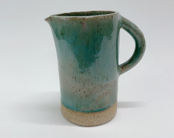 Traditional, Minimalistic Cooper Blue Pitcher