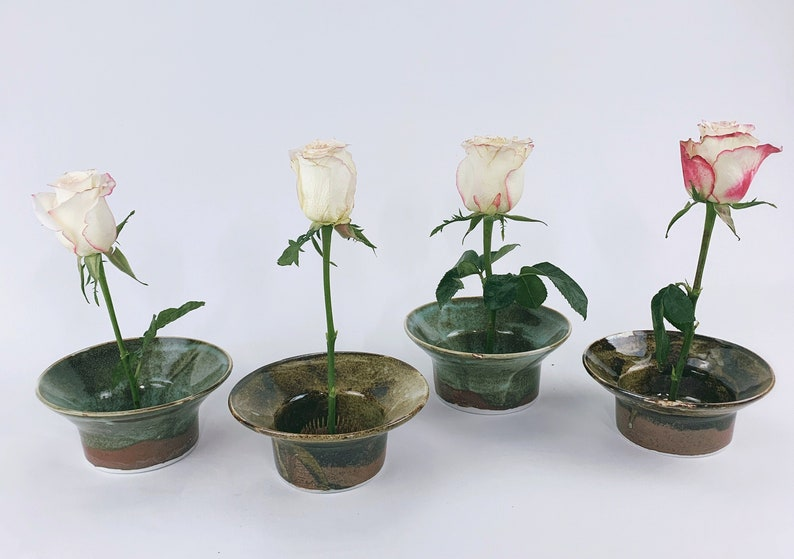 Set of 4 small Ikebana Vase to decorate your table image 0
