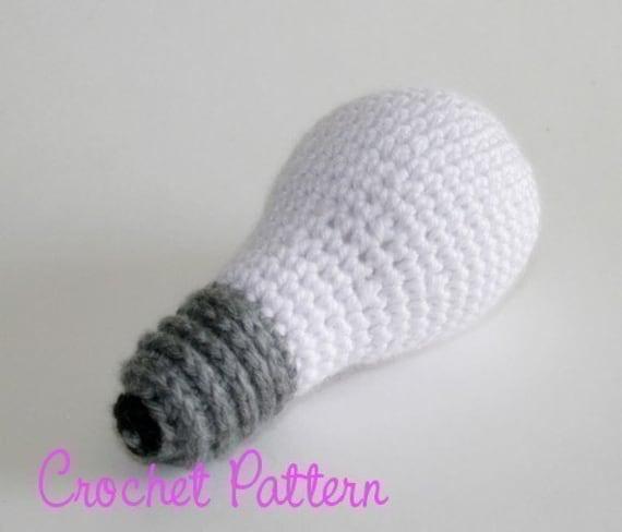 Crochet Pattern Incandescent Lightbulb Crochet Pattern Etsy
