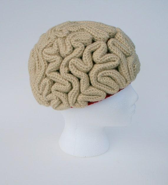 Crochet Pattern Brain Beanie Brain Hat Crochet Brain  1b76eccea40