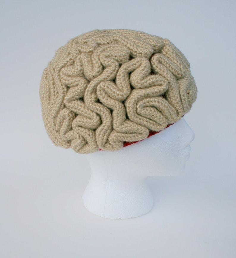 c2abe931d7e Crochet Pattern Brain Beanie Brain Hat Crochet Brain