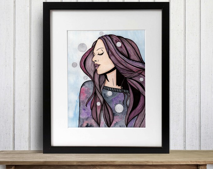 Featured listing image: Shake It Off - Fashion Inspired Watercolor Painting - Art Print