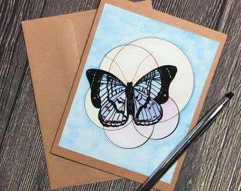 Brilliance Original Watercolor Print - Kraft Note Card