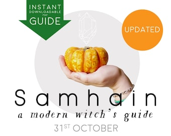DIGITAL GUIDE SAMHAIN Halloween instant pdf downloadable printable a Modern Witch's Sabbat Guide book of shadows harvest festival October 31
