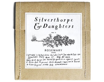 Rosemary SEEDS witch supplies witch's garden witchy gift in packet green witch magic garden medicinal herbs magical UK