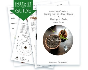 DIGITAL Modern Witch's GUIDE Setting up an Altar Casting a Circle Sabbat Edition instant pdf printable downloadable journal book of shadows