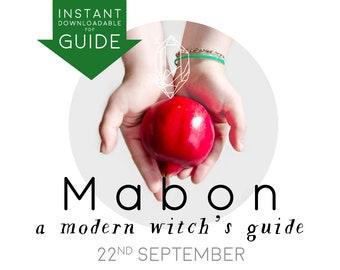 DIGITAL sabbat GUIDE MABON a Modern Witch's Guide instant pdf downloadable printable journal book of shadows harvest festival September 22