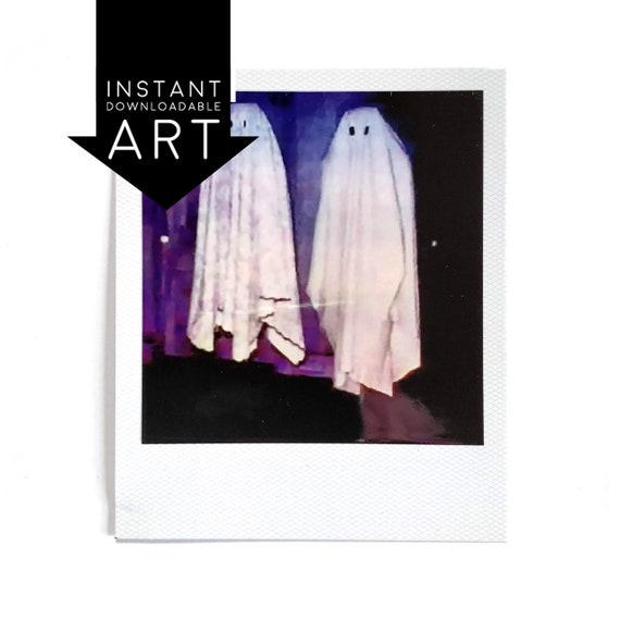 Beetlejuice No Feet Ghosts Polaroid Vinyl Decal