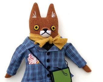 Fox Fellow wool doll plush Artist hipster