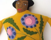 Tropical Lady pillow doll