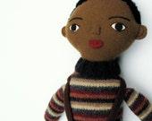 MLK SALE- 20% off- little guy 4- black boy doll