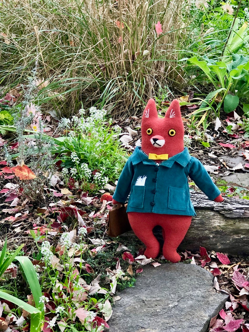 Fox Fellow in Corduroy Jacket wool doll hipster image 1