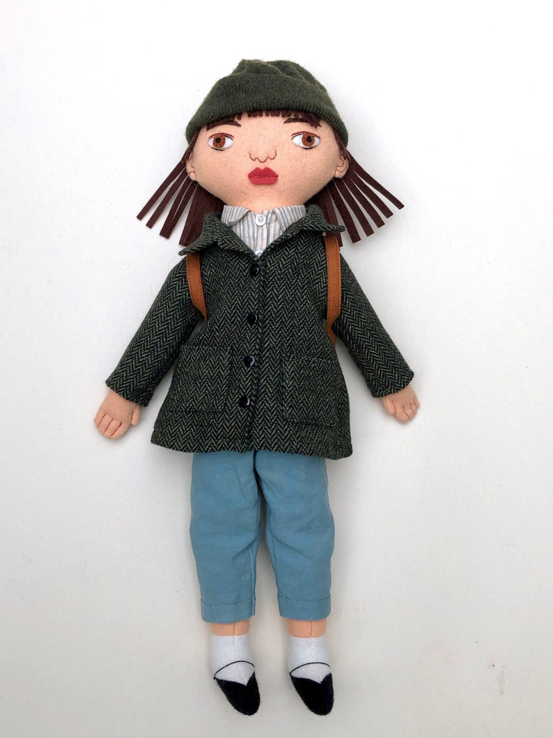 Adventure Girl doll wool Handmade Heirloom image 0