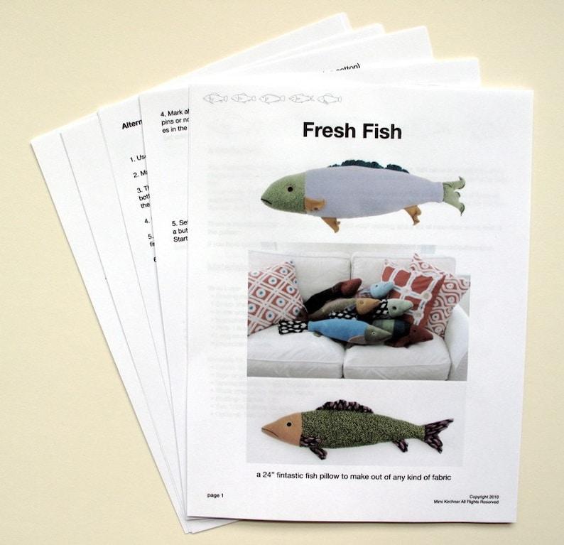 Fresh Fish Pillow Pattern pdf image 0
